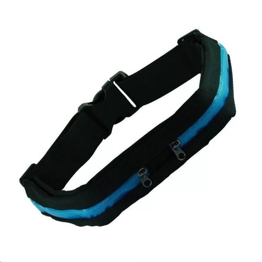 Itsara SPORT RUNNING BAG กระเป๋าคาดเอวใส่วิ่งออกกำลังกาย แบบ 2 ช่อง - สีน้ำเงิน