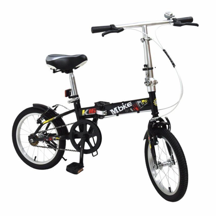 aaa K-BIKE จักรยานพับได้ FOLDING BIKE 16 นิ้ว 1 Speed รุ่น 16K101 MBIKEดำ Sbobet