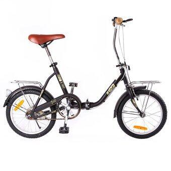 K-POP จักรยานพับได้ รุ่น 1600T 1 เกียร์ ขนาดล้อ 16นิ้ว (สีดำ)