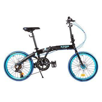 K-POP จักรยานพับ 20 นิ้ว รุ่น KP2014TSP7BK ( สีดำ/น้ำเงิน )
