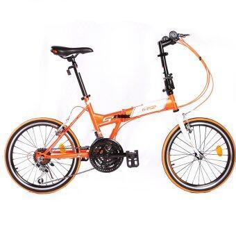 K-POP จักรยานพับได้ รุ่น 2001TSPNEW21 21 เกียร์ (สีส้ม)
