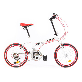 K-POP จักรยานพับได้ รุ่น KP-2001TSP21-WH (สีขาว)