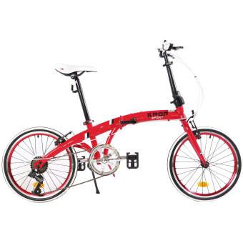 K-POP KP-2004TSP6-RD จักรยานพับ20นิ้ว ( สีแดง )