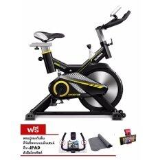 KF-FIT จักรยานออกกำลังกาย SPINNING BIKE HM-700 สีดำ (15KG.)