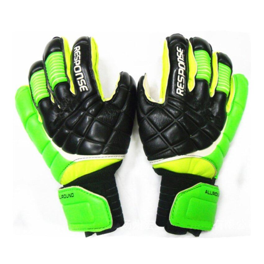 Latex Goalkeeper Gloves Roll Finger green 8 - Intl ...