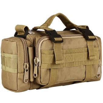 Men's Bags กระเป๋าคาดเอว กระเป๋าจักรยาน กระเป๋าสะพายไหล่ 3 in 1 bag ( สีกากี )