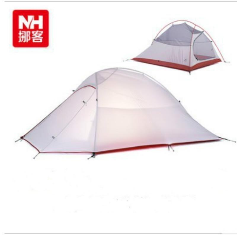 NatureHike Ultralight Silicone 380T Waterproof 2 People Professional Camping and Outdoor Tent with Mat Grey - intl