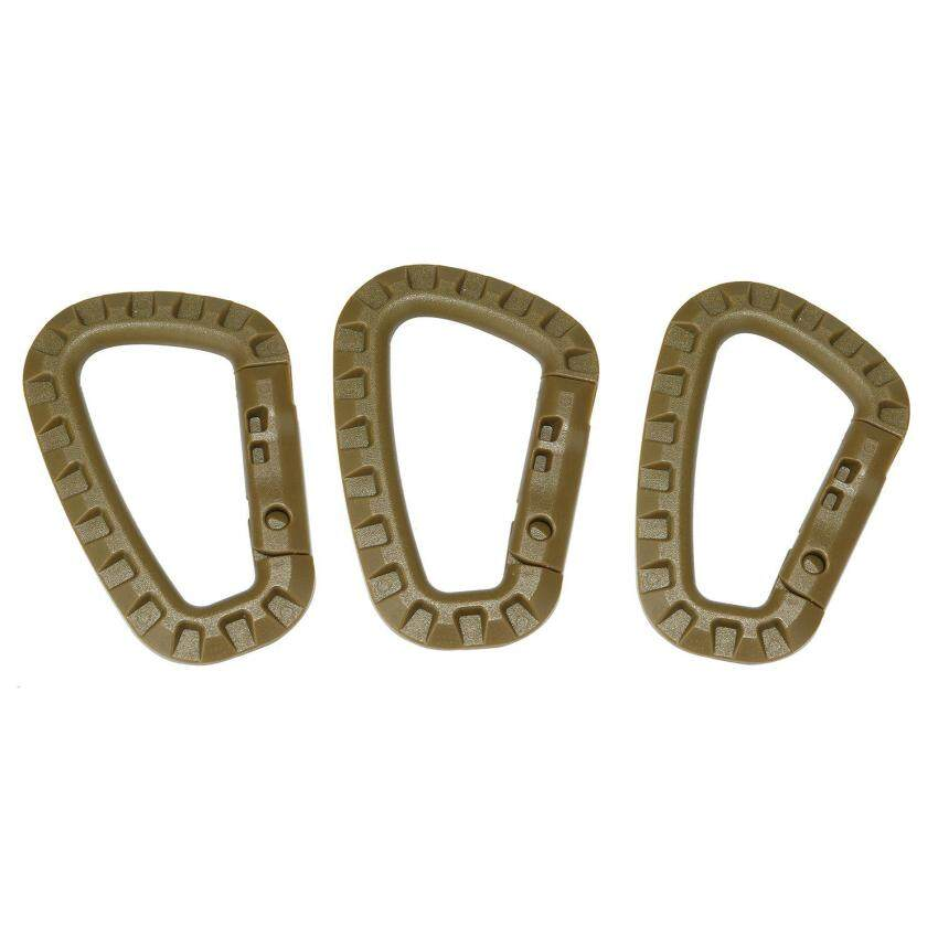 ooplm 3 Pcs D-ring Carabiners Hanging Hook, Plastic Clip Snap for Backpack Hiking