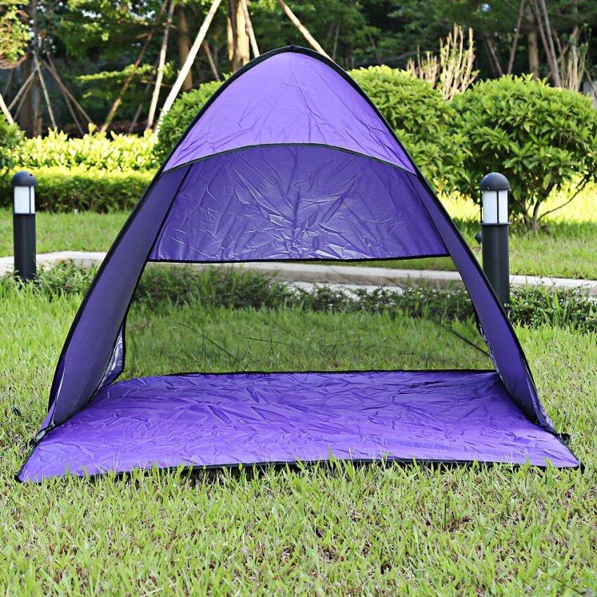 Outdoor Automatic Foldable Portable UV Protection Pop Up Instant Quick Cabana Beach Tent (Purple)