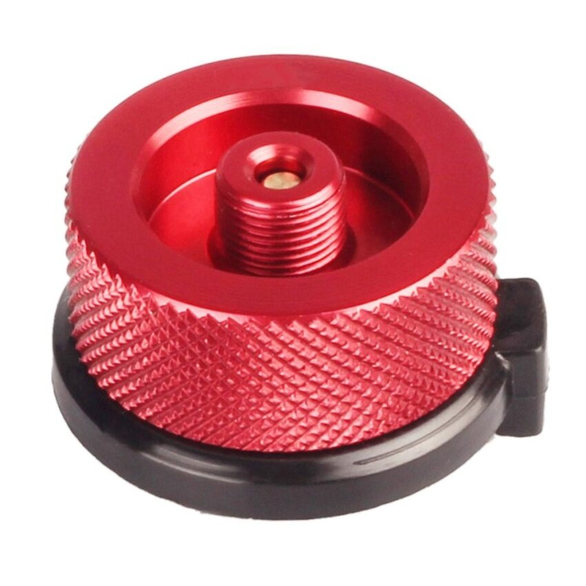 Outdoor Camping Picnic Stove Converter Long-Flat Gas Bottle Adapter Burner(Red) - intl
