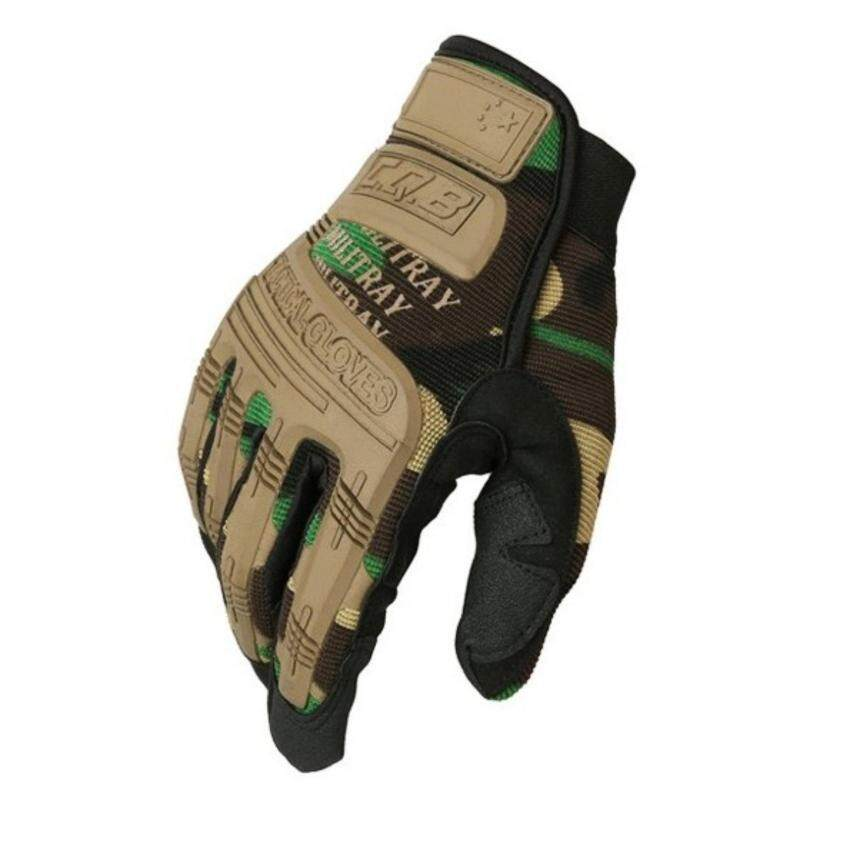 Outdoor Hiking Camping Safety Gloves Super Technician Full Finger Tactical Cycling Riding Waterproof Skiing Glove - intl