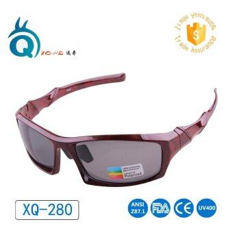 Polarized GREY Lens Wooden Bamboo Red Black Frame Cycling Fishing Hiking Glasses - intl