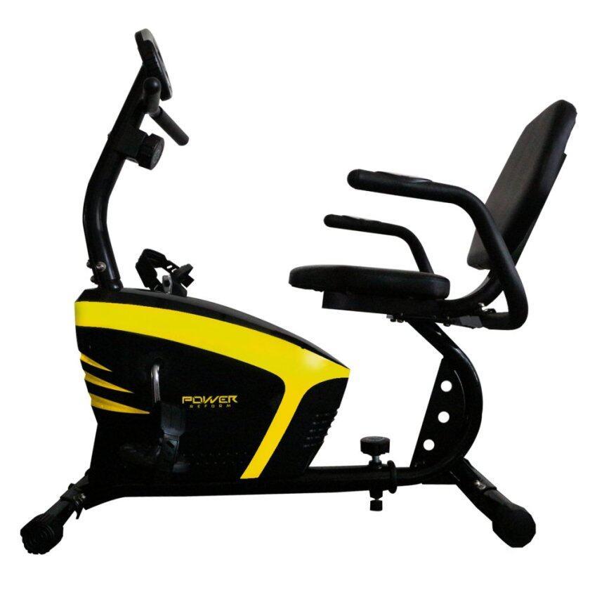 สุดยอด Power Reform จักรยานเอนปั่น นั่งปั่น นอนปั่น จักรยานออกกำลังกายRecumbent Bike รุ่น Reactor 376L (สีดำ) ราคาประหยัด
