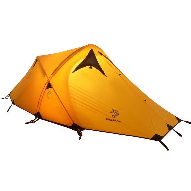 Professional 3-4 Person 20D Silicone Fabric Double layer Camping Tent waterproof tent Double Layer tent Foldable Travel Camping Tent with Bag(yellow)
