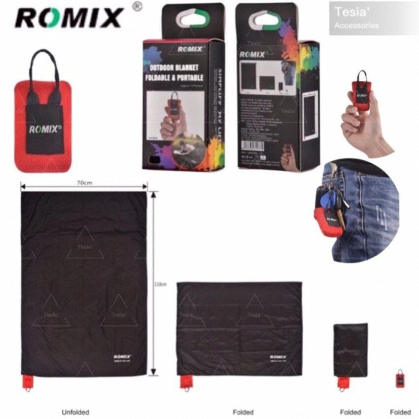 ROMIX ผ้าปูอเนกประสงค์ขนาดพกพาสำหรับชายหาด ปิคนิค แบคแพค กันน้ำ กันฝุ่น พร้อมกระเป๋า(Size S 70*110cm สำหรับ 1-2 คน)