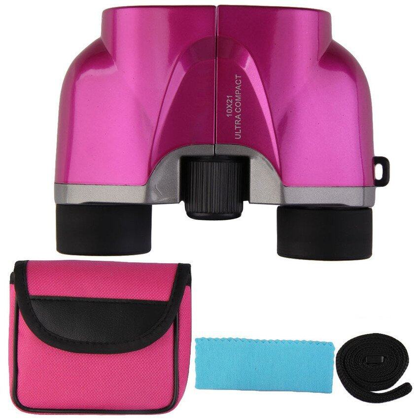 Rose Powerview 10X21 Compact Binocularstelescope Outdoor Portabletravel (Pink) - intl ...