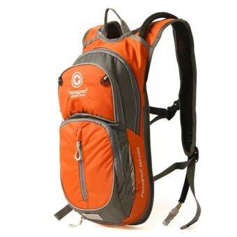 กระเป๋ากันน้ำ เป้จักรยาน เป้เดินป่า กระเป๋าเป้สะพายหลัง เป้รุ่น S001 ขนาด 20L (สีส้ม)