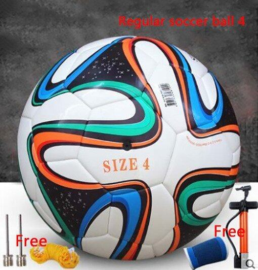 Soccer Football Regular soccer ball 4 Seamless thermal bonding football Soft leather PU football Indoor soccer Outdoor soccer - Intl