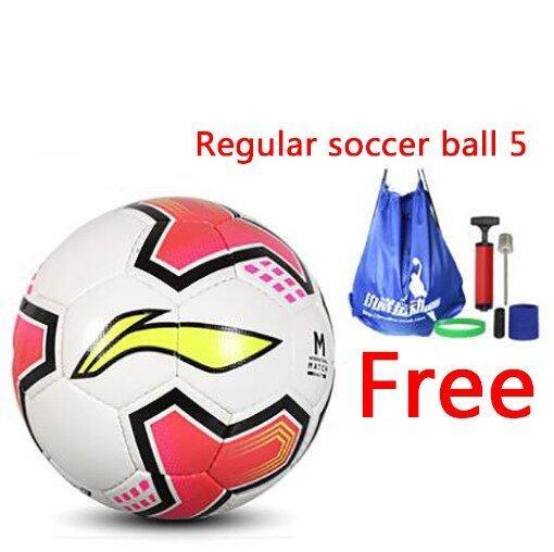 Soccer Football Regular soccer ball 5 Indoor soccer Outdoor soccer PU hand sewn football Training football - Intl