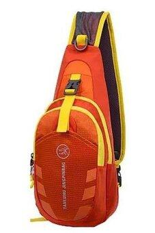 SportlifeOnline กระเป๋าสะพายไหล่กันน้ำ กระเป๋าคาดอก รุ่น D02 - สีส้ม