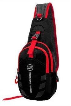 SportlifeOnline กระเป๋าสะพายไหล่กันน้ำ กระเป๋าคาดอก รุ่น D02 - สีดำ