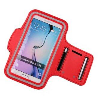 Sports Running Case Arm Bag Band for Samsung Note3 Note4 Note5 (Red)
