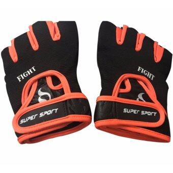 SUPER SPORT ถุงมือ ฟิตเนส SUPER Fitness Gloves Fight OR