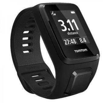 TomTom Spark 3 Cardio GPS Fitness Watch นาฬิกาวัดชีพจร Multi-Sport (สีดำ) Size S
