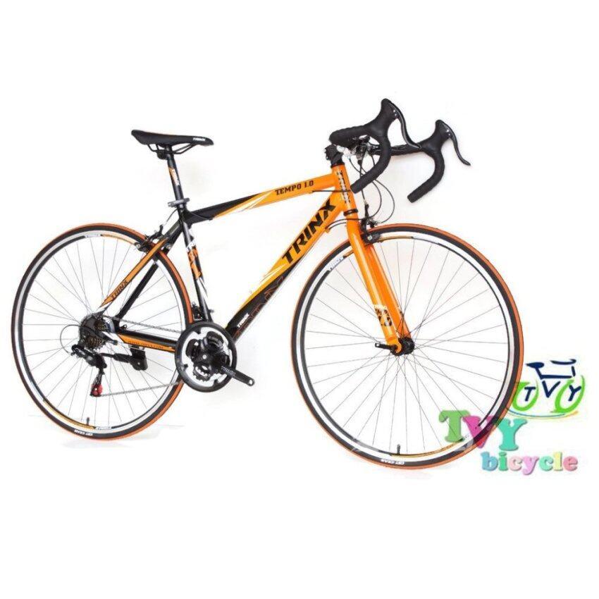 แนะนำ TRINX จักรยานเสือหมอบ รุ่น TEMPO1.0 size 48 (สีดำ/ส้ม/ขาว) สินค้าราคาประหยัด
