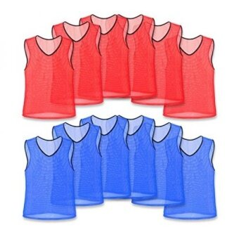 Unlimited Potential Nylon Mesh Scrimmage Team Practice Vests Pinnies Jerseys for Children Youth Sports Basketball Soccer Football Volleyball - intl