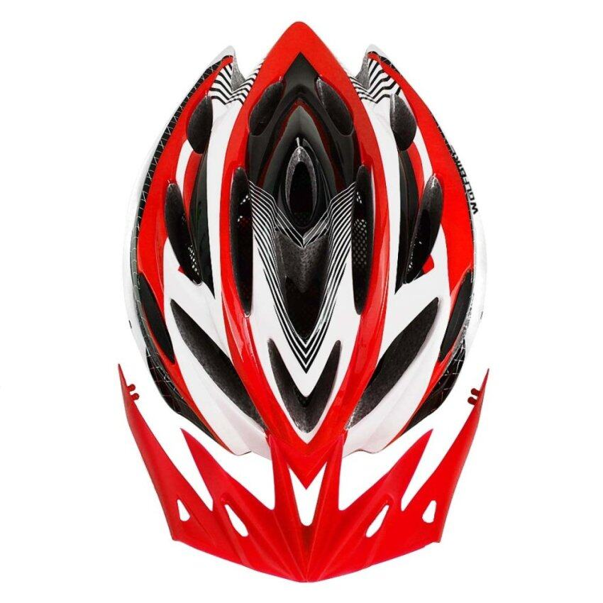 WOLFBIKE Unicase Bicycle Cycling BMX MTB PVC Helmet Red ...