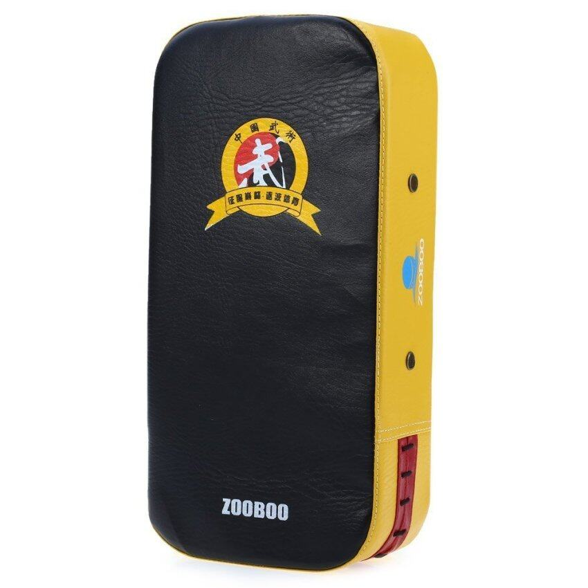 Zooboo 1PCS Boxing Pad Punching Bag Square Foot Target Mitt Karate MMA Sparring Muay Thai TKD Training Gear - YELLOW AND BLACK (Intl)