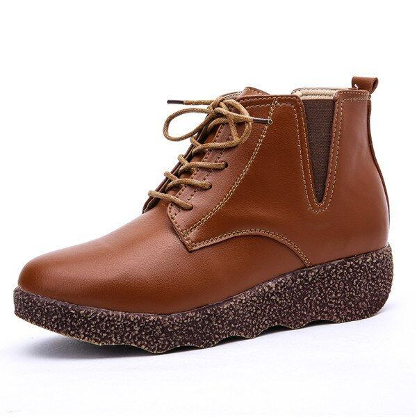 2016 Winter warm Shake the bottom shoes women fashion Increase boots women(Brown) - intl ...