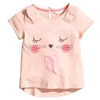 2016New Fashion Summer Baby Girls T-shirt Sweety Girls T-shirt Short Sleeve T-shirt (Pink ) - INTL