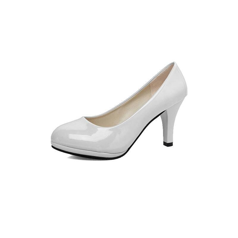 2017 High Quality Women OL Style Pumps Ladies High Heel Plus Size Shoes(white) - intl ...