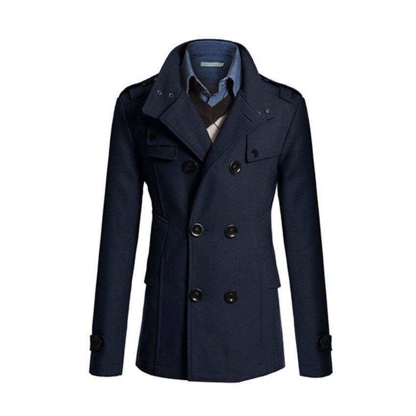 2017 New Fashion Trench Coat Men Classic Double Breasted Clothing Long British Style 3XL ...