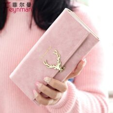 2017 New Ms. Kuans Purses Grow A Style Han Da Button Up To Whet A Sand 70% Discount To Fold A Girl A Fawn Lock To Button Up The Powder Color Students Small Change To Wrap For Day Female Cartoon Money Clip Female Style Clutch Female Pink - Intl ราคา 670 บาท(-35%)