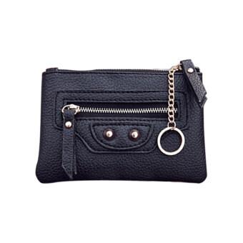 กระเป๋าสตางค์หนังหญิงเหรียญทอง 2559 (สีดำ)