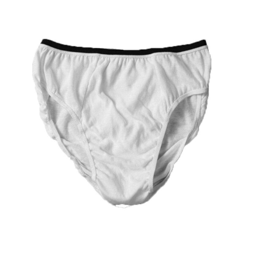A Pack of 5 Pieces Wthite Cotton Disposable Underwear for Men - intl ...
