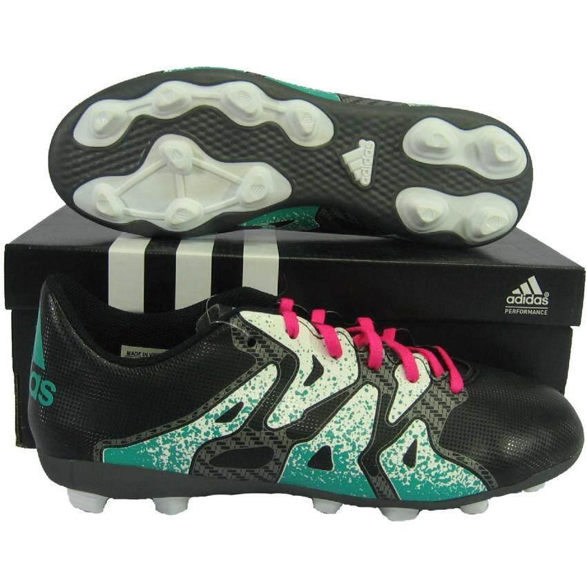 Adidas รองเท้ากีฬา รองเท้าสตั๊ดเด็ก adidas 74599 X 15.4 FxG ดำขาว เบอร์ UK 1