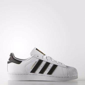 Adidas Superstar C77154 Running White Black Stripes Gold Label Sneakers - New with Box