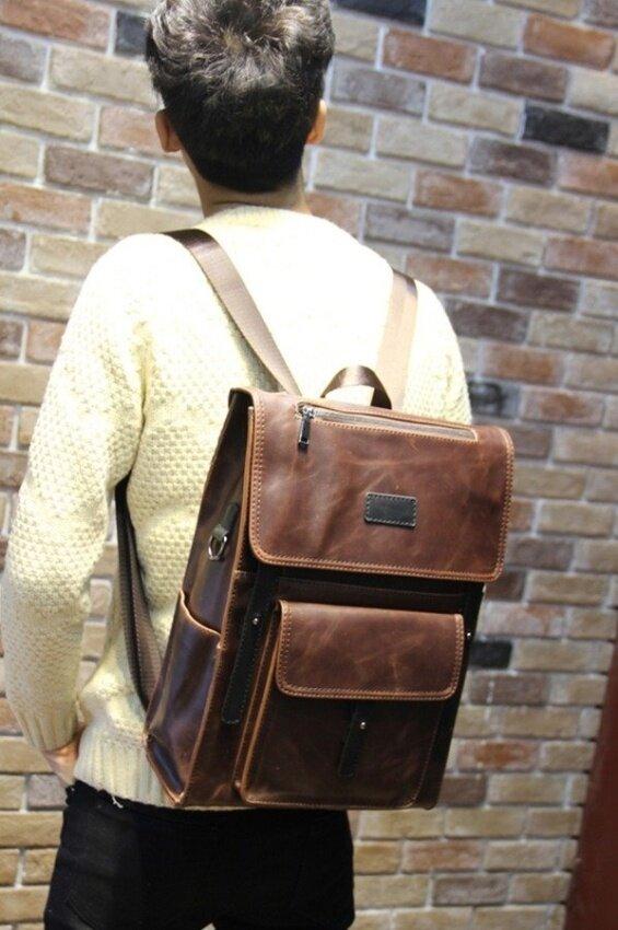 Afterthat กระเป๋าเป้ สะพายหลัง หนังPU รุ่น JDD03BR (Brown)