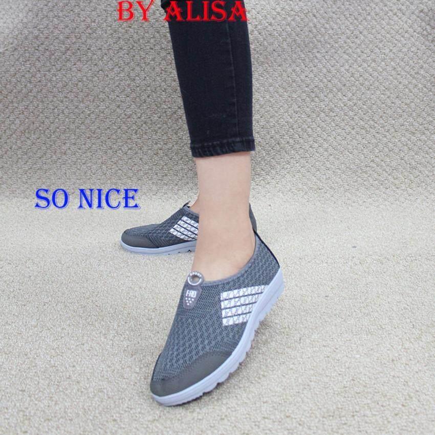 ด่วน Alisa Shoes รองเท้าผ้าใบแฟชั่น รุ่น 99Q010 Grey กำลังลดราคา