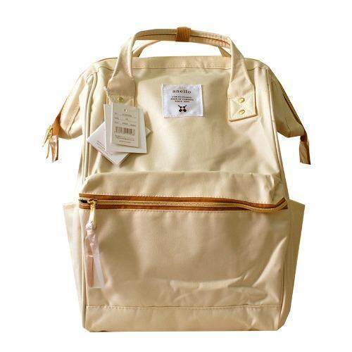 ANELLO Authentic Anello Regular Poly Canvas (Natural)