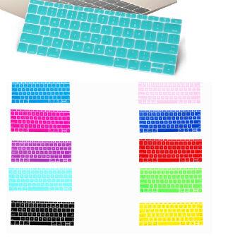 แป้นพิมพ์ซิลิโคนปิดผิวป้องกันสำหรับ Apple Macbook Mac 30.48ซมความโปร่งใส