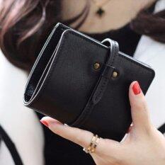Areeya@shop กระเป๋าสตางค์ใบสั้น กระเป๋าเงินผู้หญิง La Vie- Wallet-79-Black ราคา 350 บาท(-38%)