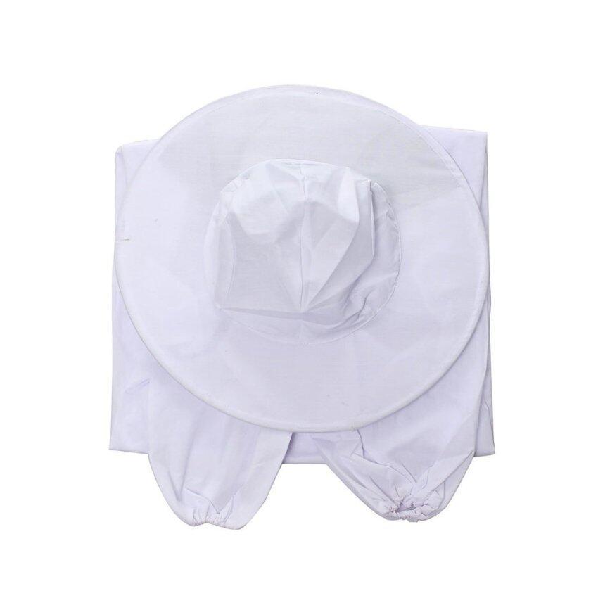 ราคาพิเศษ Audew Beekeeping Protective Veil Smock Bee Suit Equipment WhiteBeekeeper Coat Jacket White - Intl สำหรับคุณ