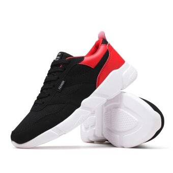 Autumn And Winter Fashion Mens Sports Shoes Men Casual ShoesComfortable Breathable Running Shoes Selling Black-Red - intl