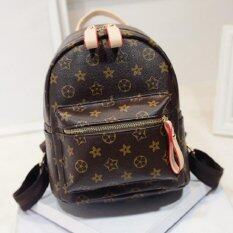 Bag Fashion กระเป๋าสะพายหลังแฟชั่นสีน้ำตาล (หูจับสีน้ำตาล) รุ่น014