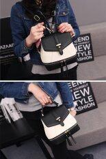 ฺBanana Shop กระเป๋าเป้สะพายหลัง กระเป๋าเป้เกาหลี กระเป๋าสะพายหลังผู้หญิง backpack women รุ่น LP-060 (สีดำ/ขาว)
